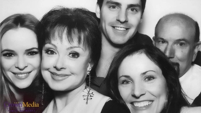 Hanging with some of the cast at the Hallmark Channel TCA event!   Nearlyweds Cast Danielle Panabaker, Naomi Judd, Travis Milne and Producers Kat Green and William R Greenblatt